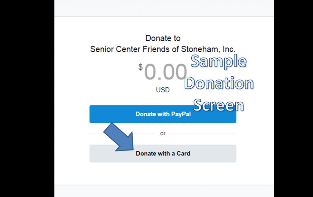 Sample Donation Screen