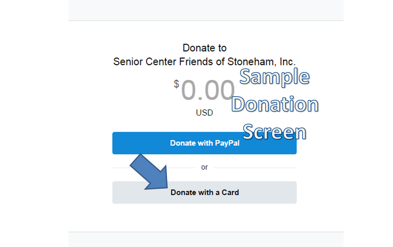 Sample Donation Screen